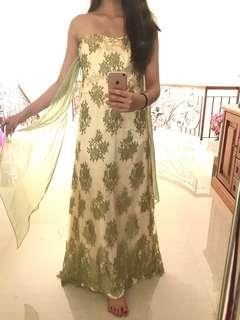 green long dress RENT/SELL