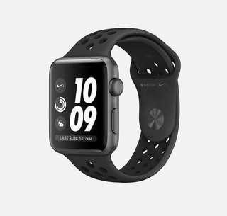 SALES!!! Apple Watch Nike+ (GPS) - Series 3 - 38MM Space Grey Aluminium Case Anthracite/Black Nike Sport Band