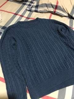 Sweater rajut knit biru