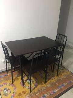 Dinning table(4 chairs) & small TV table