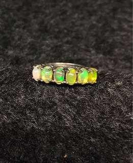 Opal ring 925