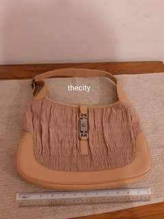 AUTHENTIC GUCCI JACKIE SHOULDER BAG - LEATHER - GOOD CONDITION, CLEAN INTERIOR - (GUCCI JACKIE BAGS NOW RETAIL OVER RM 12,000+) - RM 190 ONLY