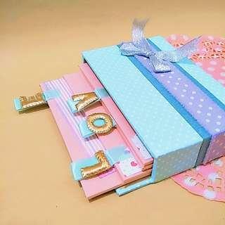 🚚 手工✨LOVE標籤卡片 萬用卡片 生日卡片 情人節卡片