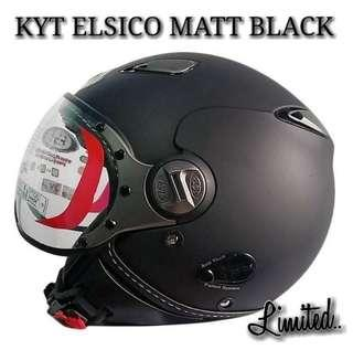 KYT ELSICO MATT BLACK..😉!!