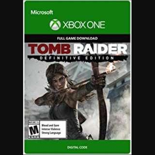 🚚 Xbox One Tomb Raider Definitive Edition Digital Download Code