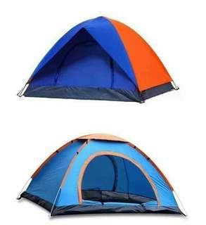 Camping tent capacity of 2 persons