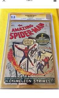 Amazing Spider-Man 1 CGC 2.5 OW