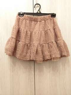 🚚 全新裸粉膚色三層蛋糕蓬蓬短裙