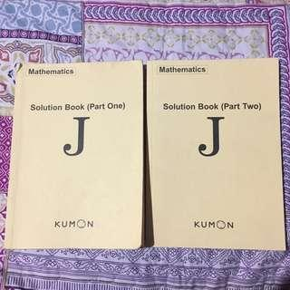 Kumon Mathematics Level J Solution Books