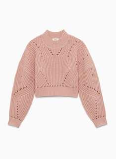 (Small)Wilfred Blush Cropped Sweater