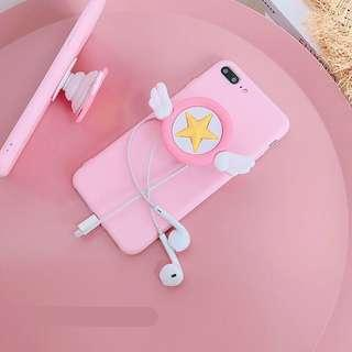 iPhone 6+ pink wings soft case