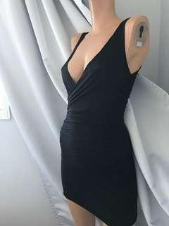 NEW Black Jersey Mini Dress XS