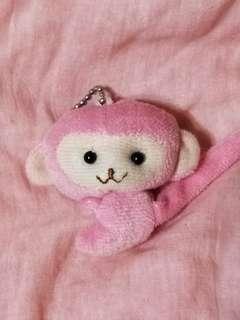 🚚 粉紅猴子吊飾娃娃