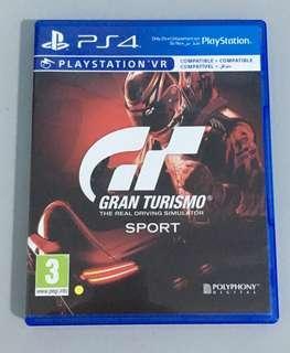 Gran Turismo Sport PS4 game