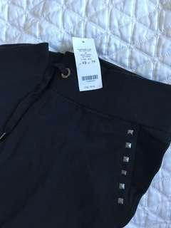 NEW Black Studded Stretchy Sweatpants XS