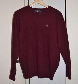 Crimson vintage Ivy League sweater