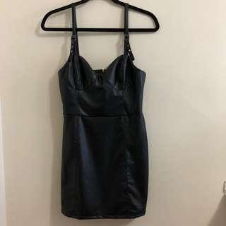 M Boutique black leather dress