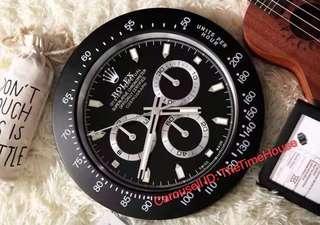 Rolex Daytona All Black Wall Clock