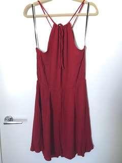 Forever 21 halter red mini dress