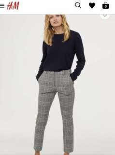 H&M checkered trousers