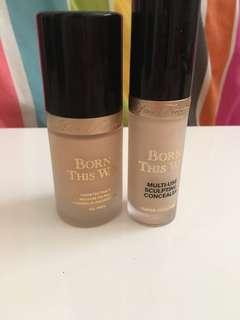 Too faced born this way foundation and concealer