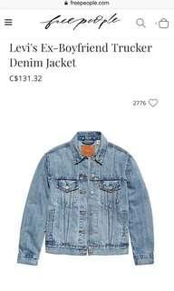 Levi's Ex-Boyfriend trucker jacket sz. XS