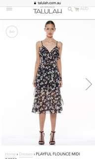 Talulah Playful Flounce Midi Dress