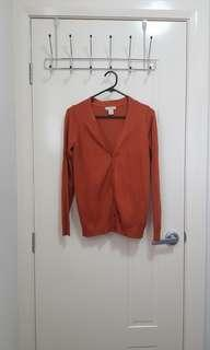 Sfera Burnt Orange Cardigan