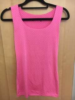 Pink stretchy top