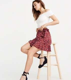 Abercrombie & Fitch flower wrap skirt