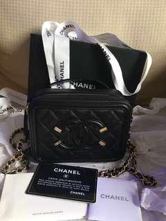 Chanel filigree vanity mini bag