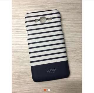 🚚 Samsung J7 2015手機殼 藍白文青風