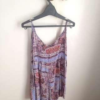 Patterned boho playsuit