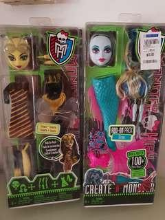 2x Monster High Doll add on pack