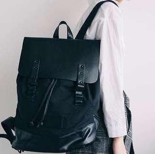 Gaston Luga Black Pråper Backpack FOR SCHOOL, UNI, WORK, TRAVEL