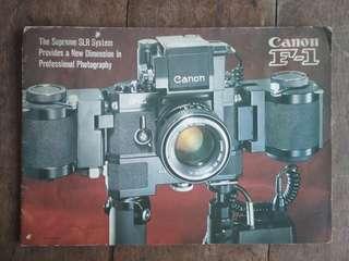 Canon F- 1 brochure