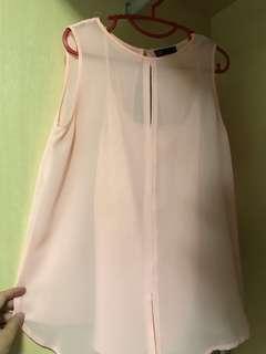 Sleeveless pink Top / Blouse