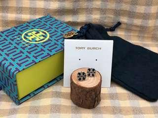 Tory Burch Stretched-T Stud Earrings