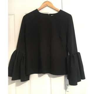 Seed Heritage Bell Sleeve Top Size 10