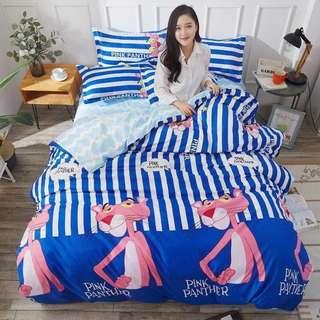 004 Pink Panther Bedsheet Set