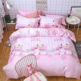 008 Pink Panther Bedsheet Set