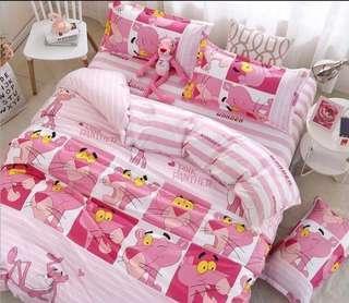 009 Pink Panther Bedsheet Set