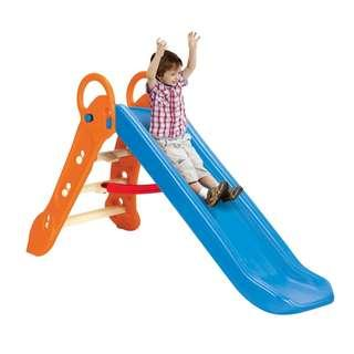 Grow'n Up Qwikfold Maxi-Slide with Water Sprinkler - Blue and Orange