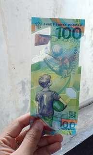 Uang 100 Rubel edisi Piala Dunia 2018