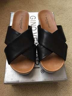 Gino Ventori Leather Slides