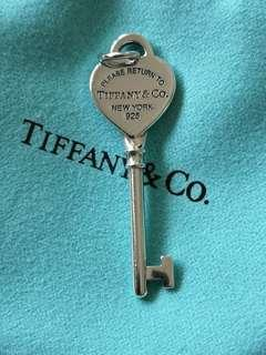 Tiffany Silver Heart Key Authentic Preloved