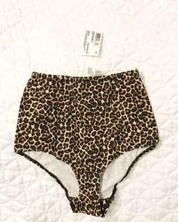 BNWT American Apparel High Waisted Leopard Print Underwear