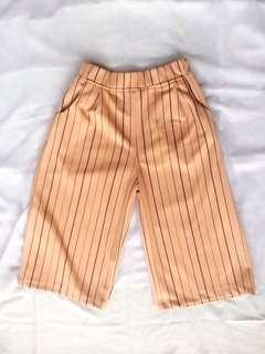 Short Kulot Stripes Peach