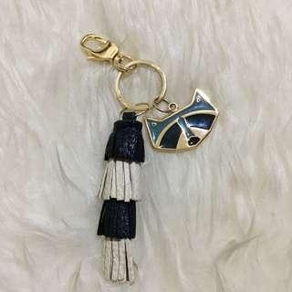Preloved Vvgc Authentic Fossil tassel keyfob gantungan tas