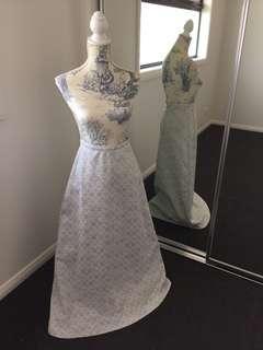 Women's vintage retro high waisted sparkle snowflake skirt original size 12
